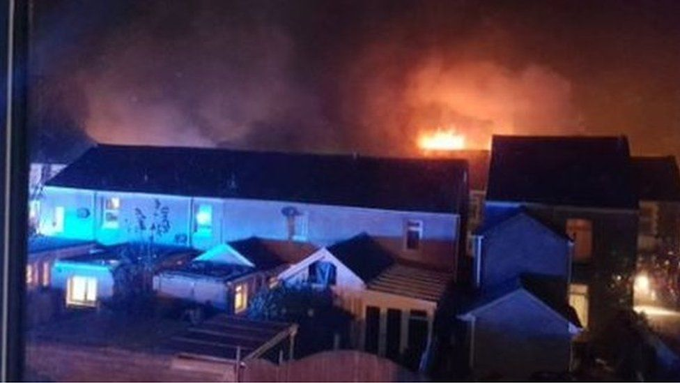 Fire in Lombard Street, Neath