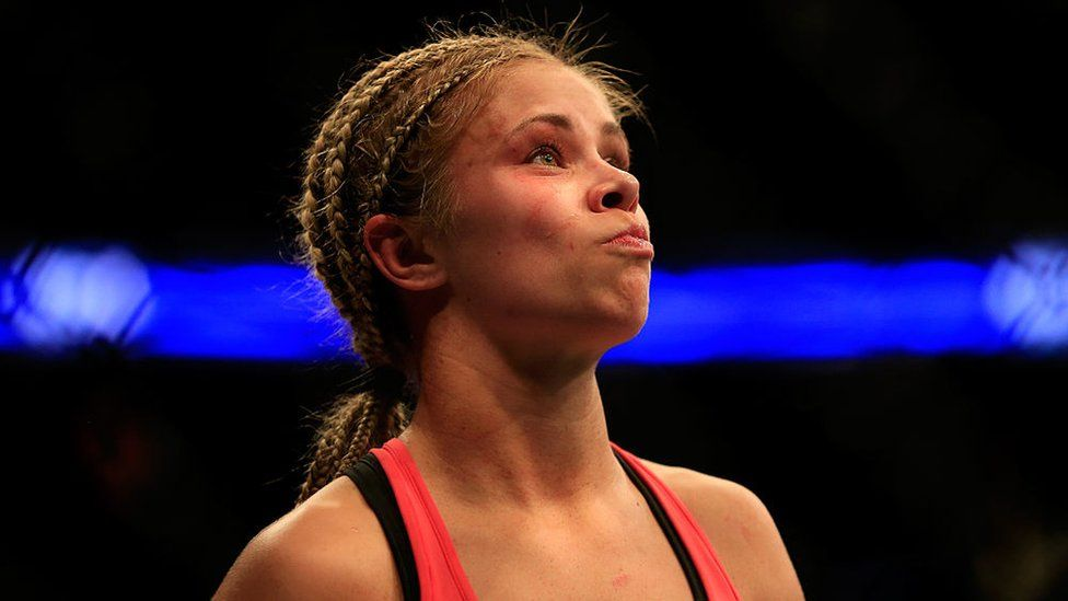 Paige Vanzant during a fight
