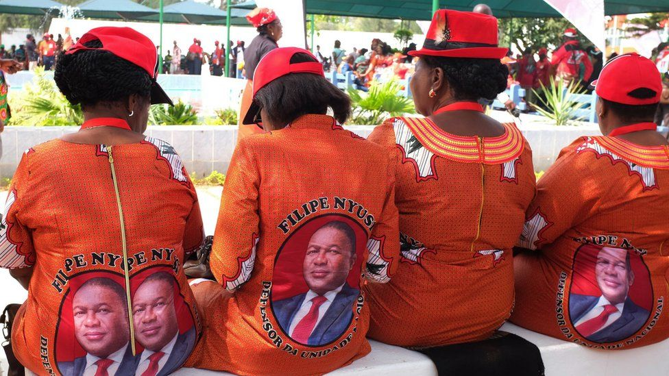 Women attend the Frelimo congress in Maputo, Mozambique - Sunday 1 October 2017