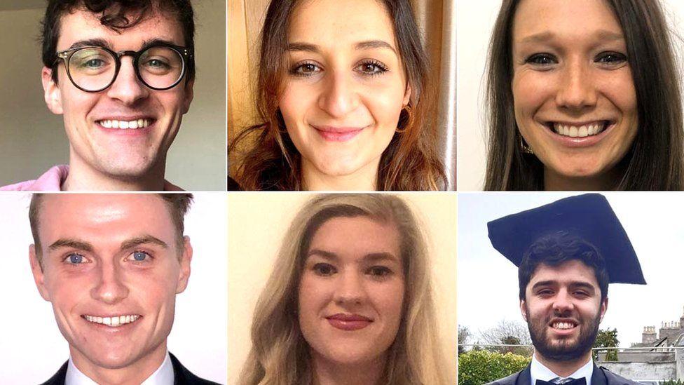 Six of the graduates
