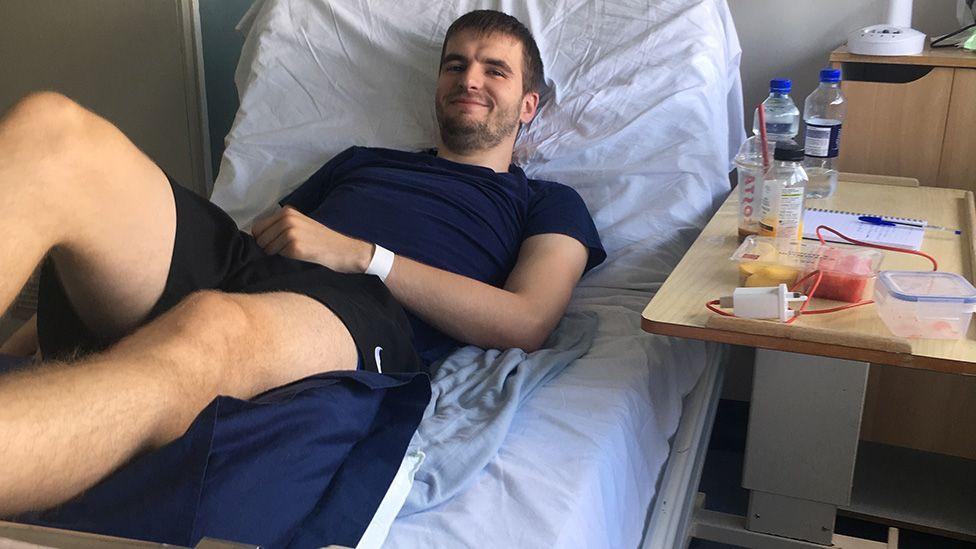 Daniel Payne in hospital