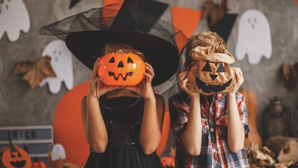 File photo of children dressed up for Halloween