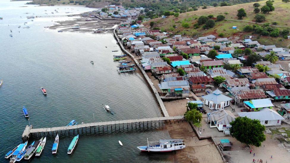 La aldea de Komodo
