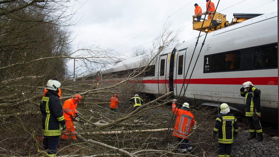 Repairs to Hanover-Göttingen railway in Germany, 18 Jan 18