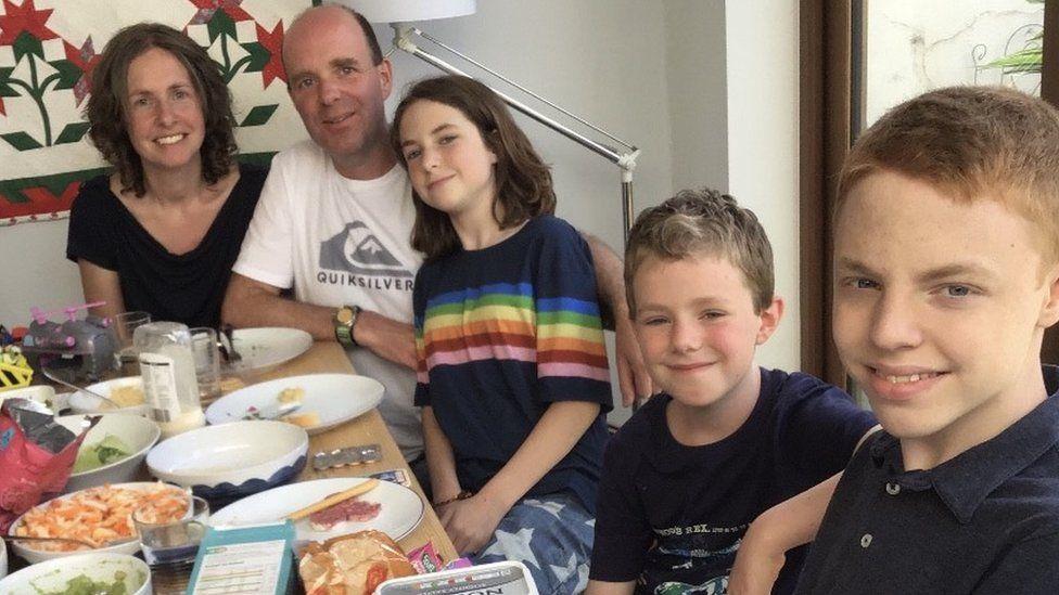 The Bingham family, Sarah and Darryl and their children Ariel, Casper and Noah