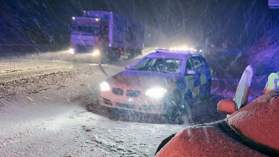 Snow on the M1