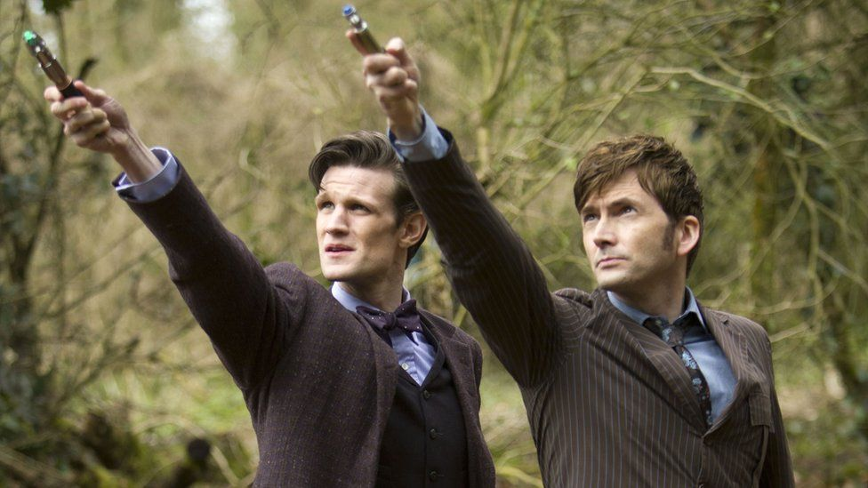 Matt Smith and David Tennant in The Day of the Doctor