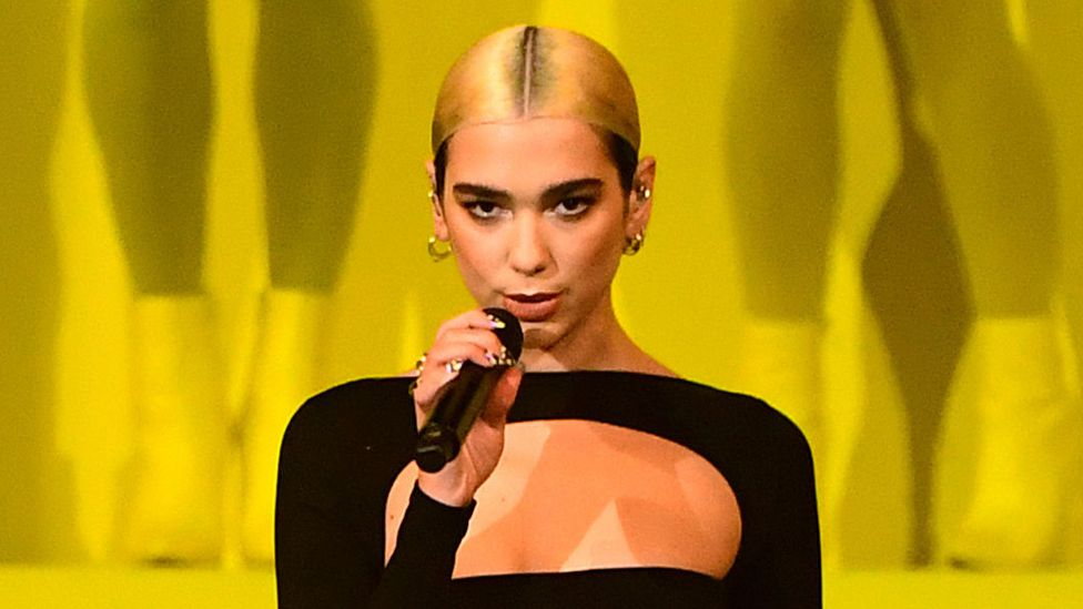 Dua Lipa performed at the MTV Europe Music Awards in Seville on Sunday