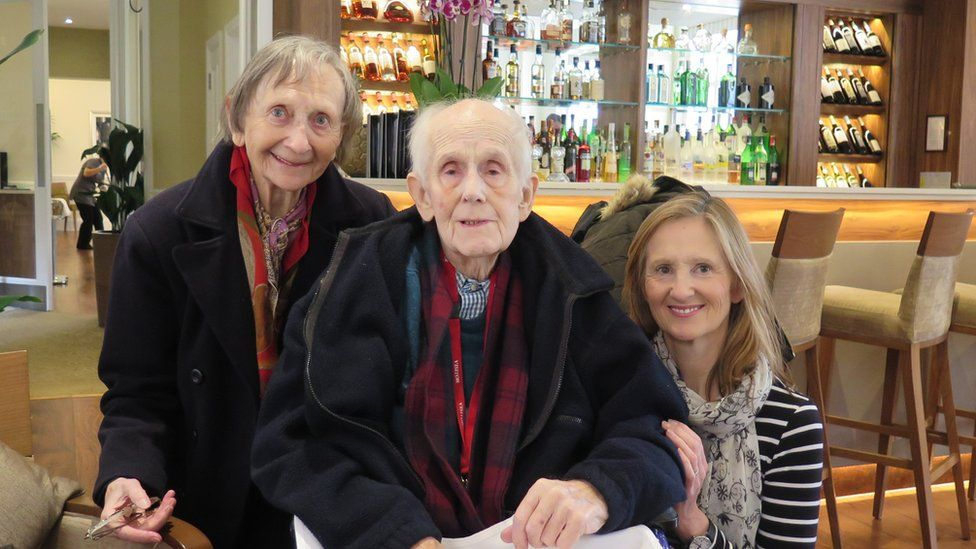 Pictured is Sue Kerfoot, right, with her mother Winifred and her father Roy.