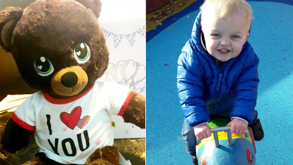 Noah Lister and picture of teddy bear