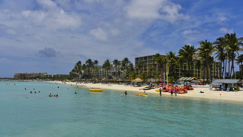 A beach in Oranjestad, Aruba