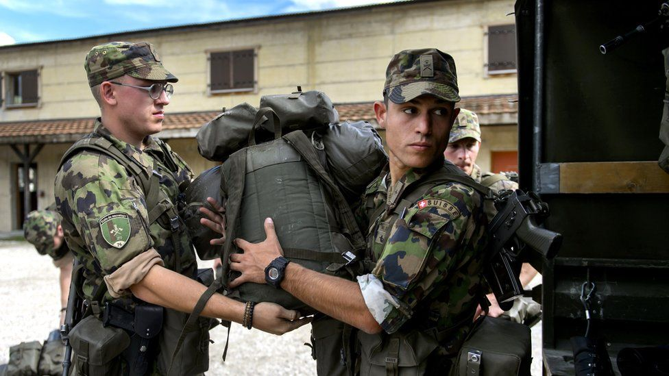 Swiss army personnel