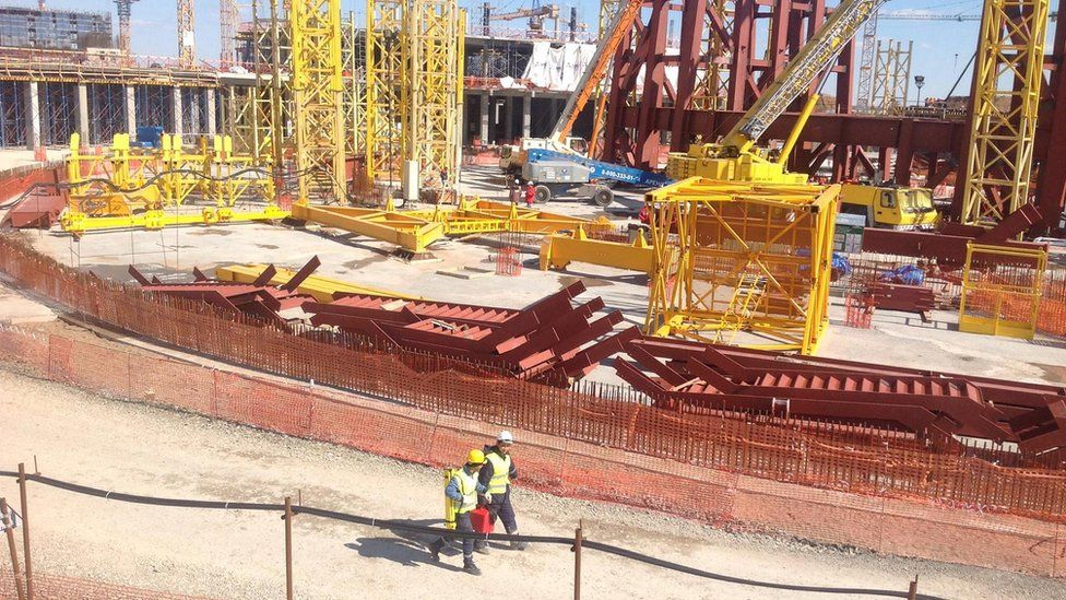 In Astana, the capital of Kazakhstan, construction is underway for Expo2017