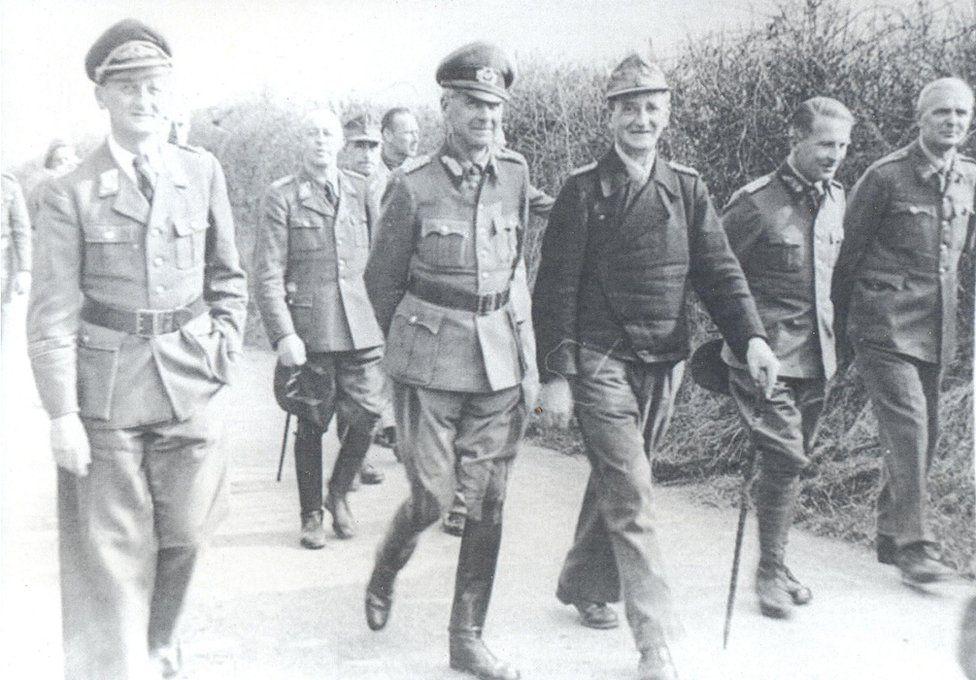 German generals walking in the grounds of Trent Park