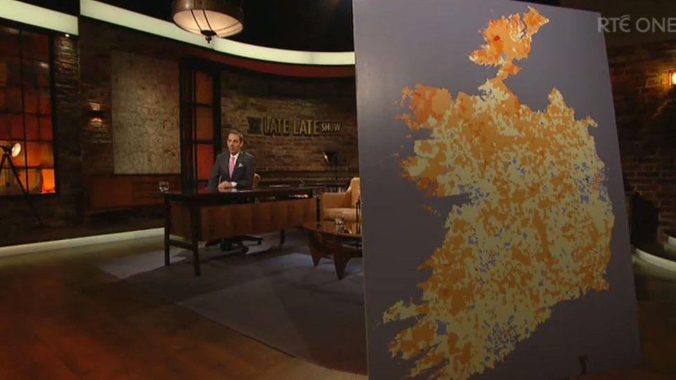 Screenshot of Late Late Show with the map