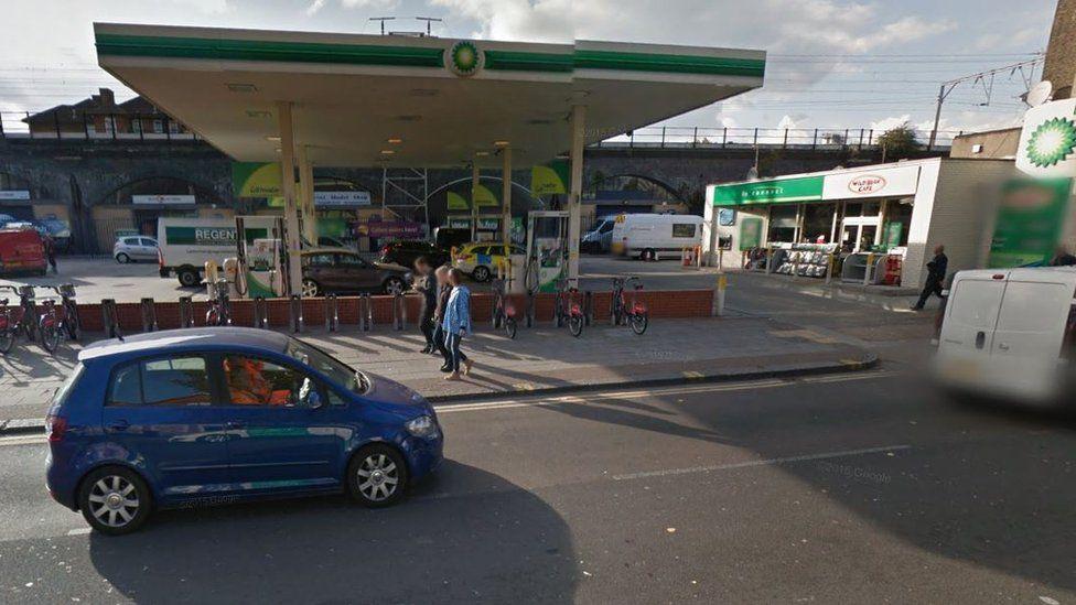 Petrol pump on Cambridge Heath Road