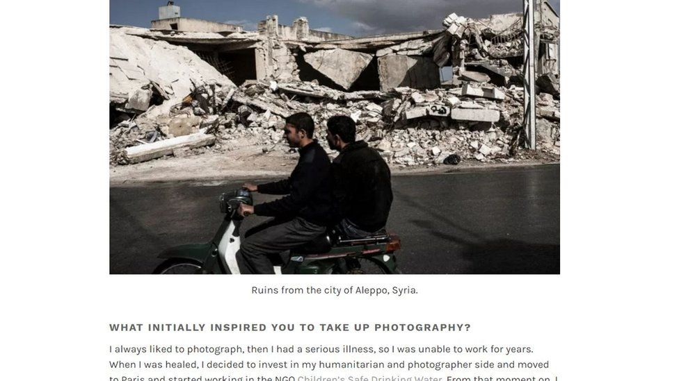 Another image belonging to Daniel C. Britt that was inverted and described by the fake Brazilian as being of residents of the Syrian city of Aleppo.