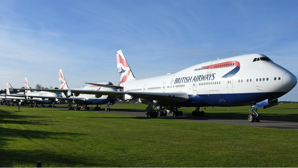 Planes in storage at Cotswold Airport