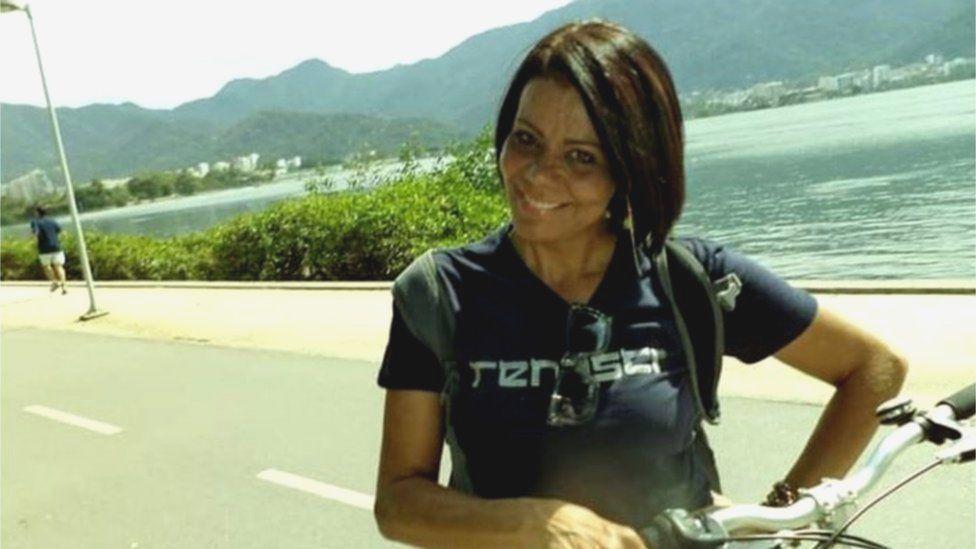 Luceni Alves riding her bike