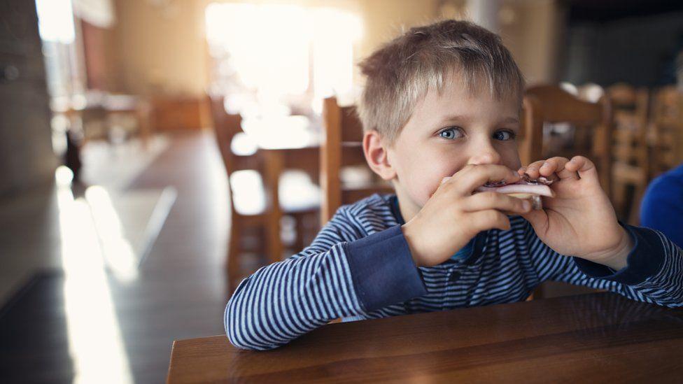 boy at table