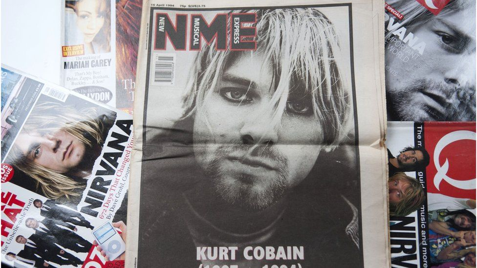 NME with Kurt Cobain on the cover in 1994