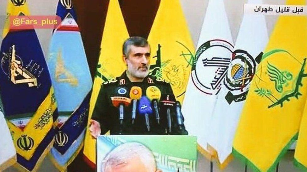 Brig-Gen Ali Hajizadeh gives news conference - 9 January