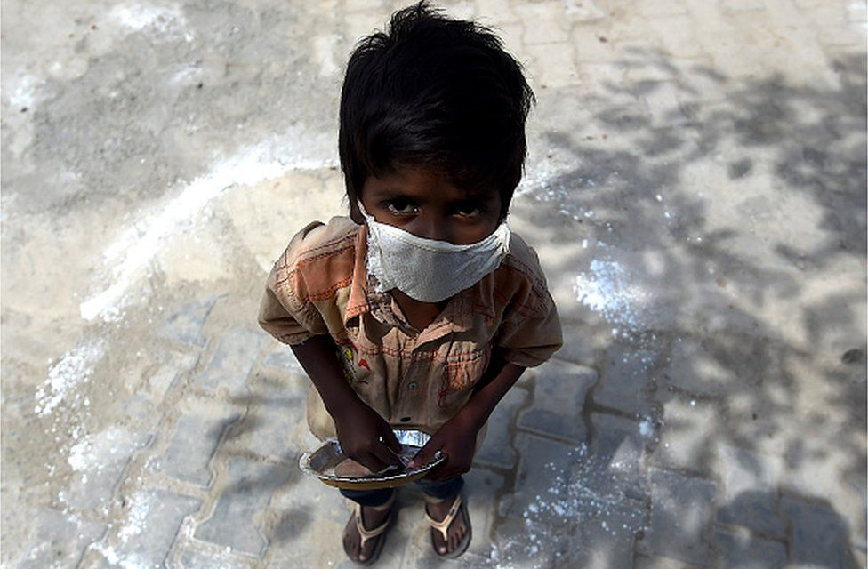 A street kid in India during coronavirus