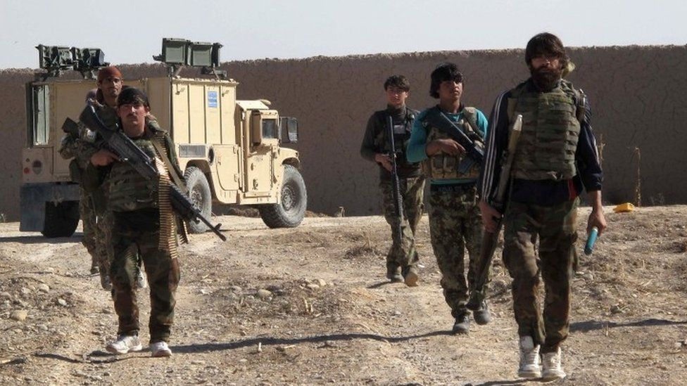 Afghan National Army (ANA) soldiers in Helmand (21 December 2015)
