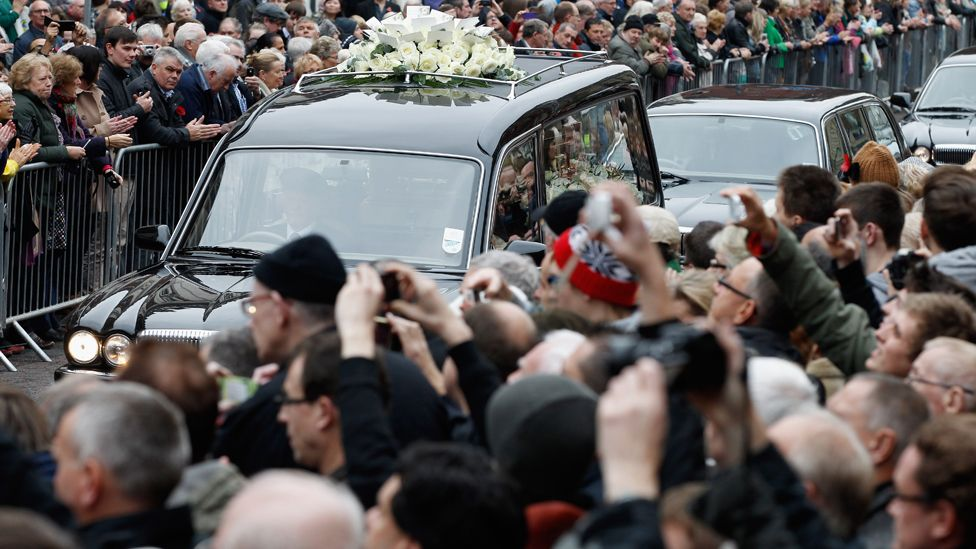 Savile's funeral in November 2011 at Leeds Cathedral