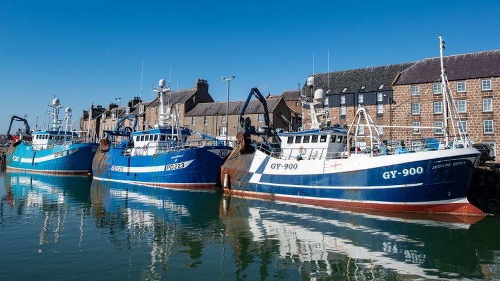 Fishing trawlers in Aberdeenshire