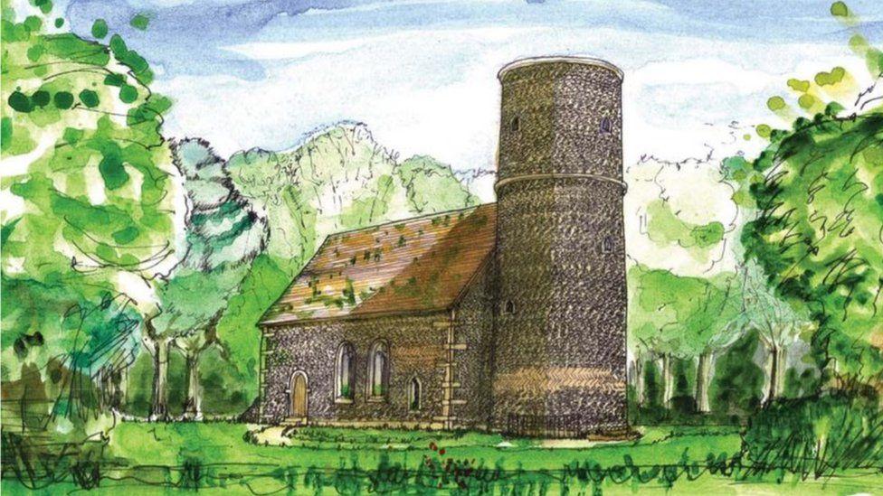 Artist's impression of chapel