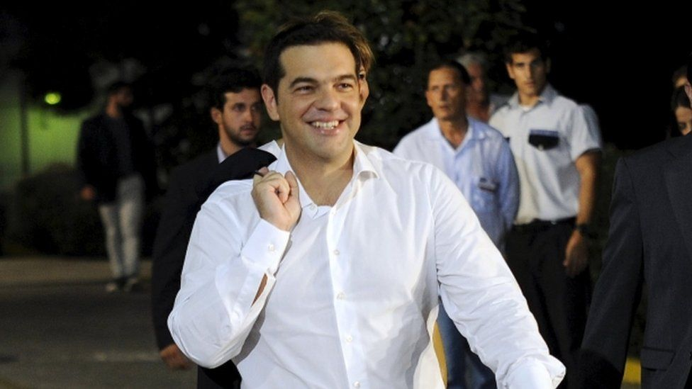 Former PM and Syriza party leader Alexis Tsipras