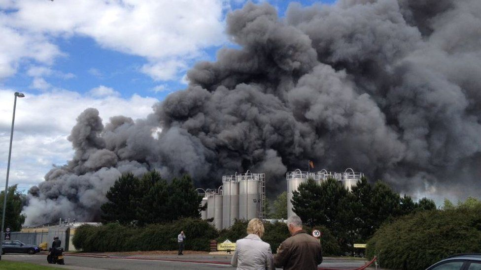 Fire at Junction 41 industrial estate
