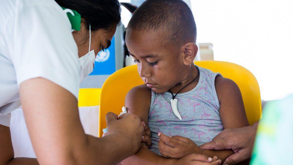 measles vaccination in Samoa, Nov 2019