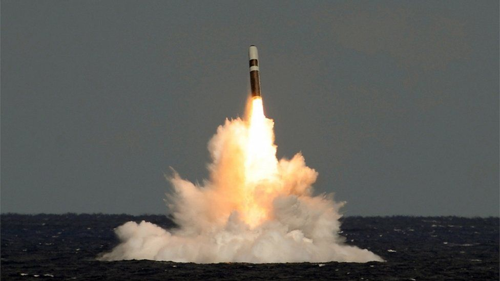 Trident missile is fired during a test launch