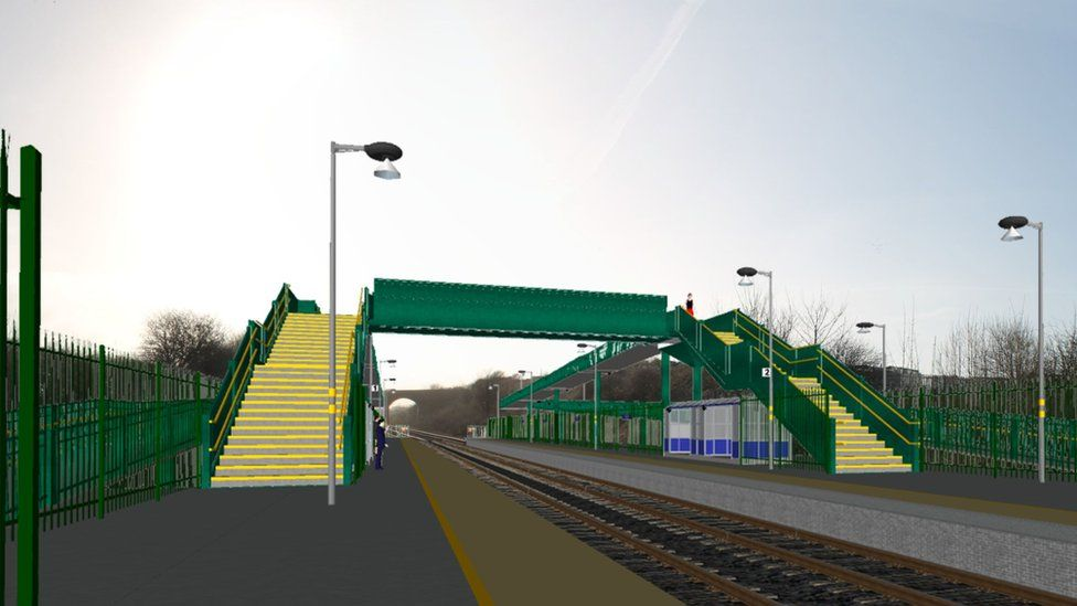 Artist's impression of new station