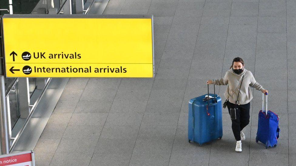 Woman at an airport