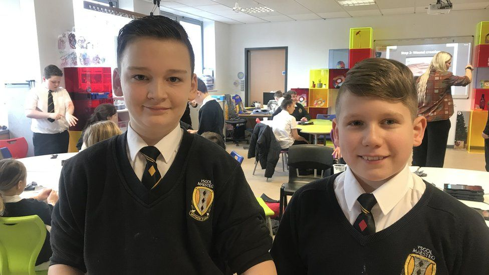 Harvey and Evan, aged 11