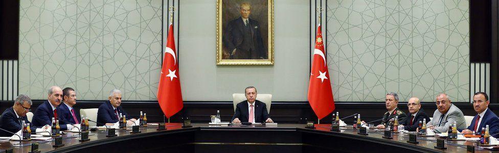 Erdogan and officials