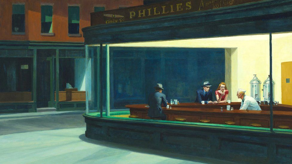 Nighthawks, 1942 by Edward Hopper (1882-1967)