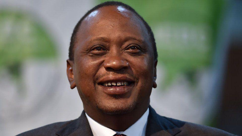 Kenya's president-elect, Uhuru Kenyatta looks on on October 30, 2017