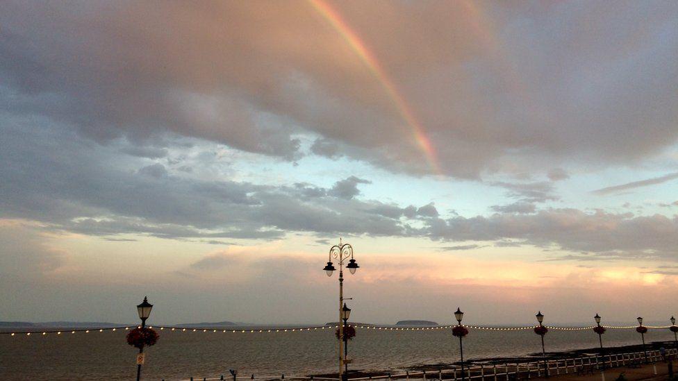 A rainbow captured by Mike Pender at Penarth Esplanade