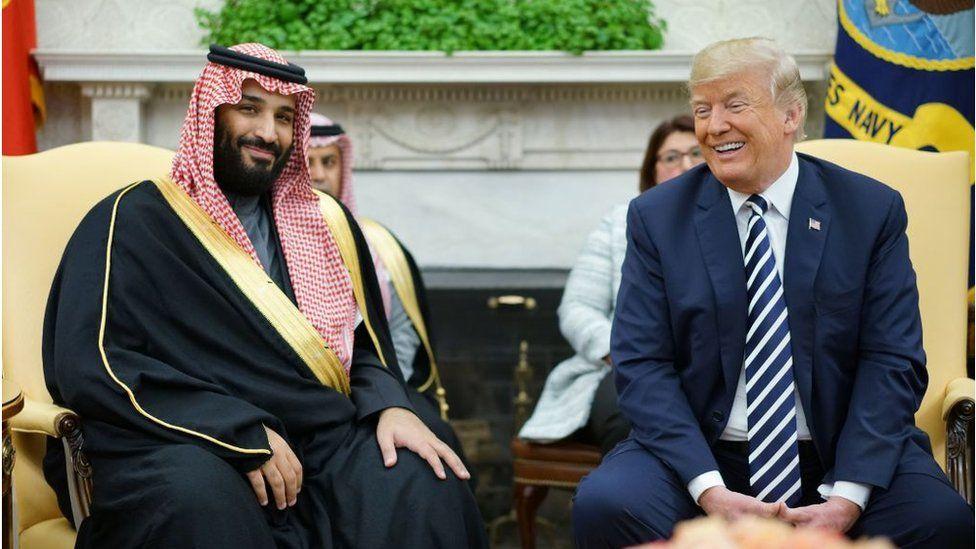 Mohammed bin Salman and Donald Trump, Sept 2018