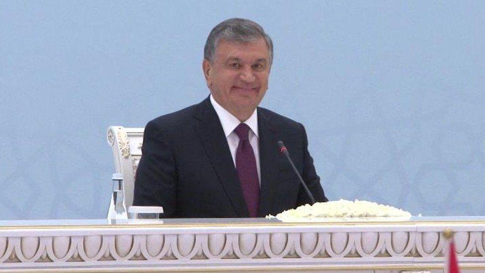 Shavkat Mirziyoyevat a Afghanistan peace conference in Tashkent