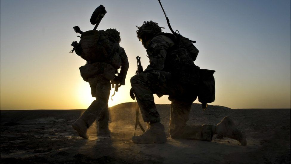 British soldiers in Afghanistan in 2013