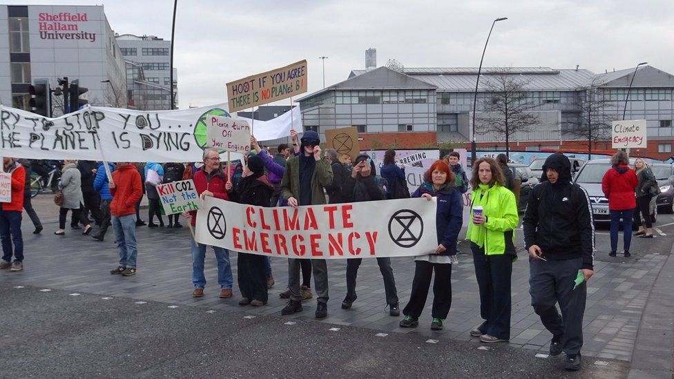 Extinction Rebellion protest, Sheffield, March
