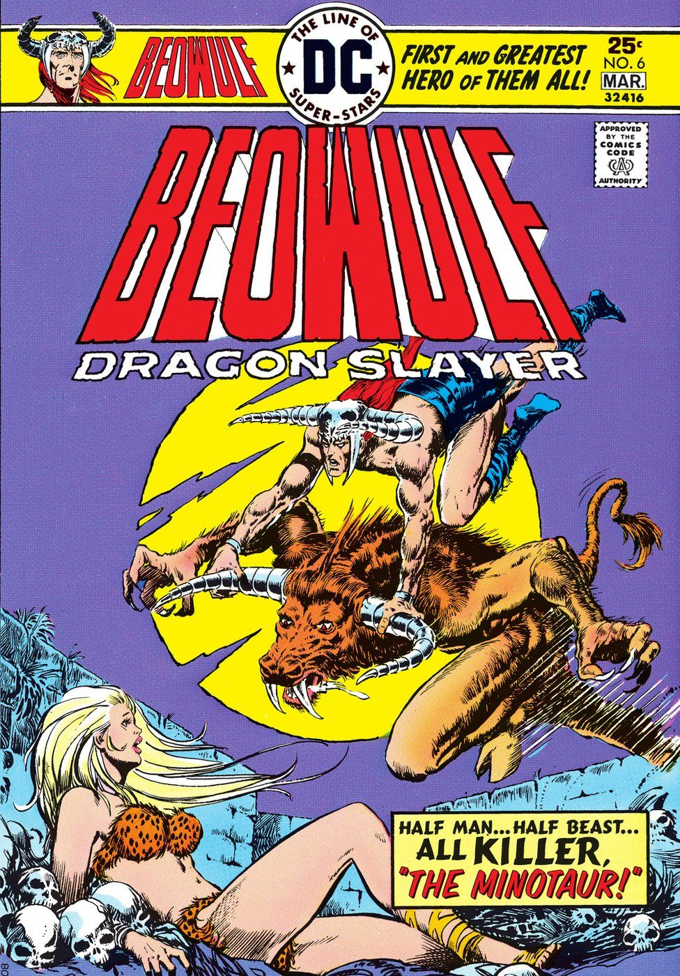 The front of the DC Comic Beowulf Dragon Slayer
