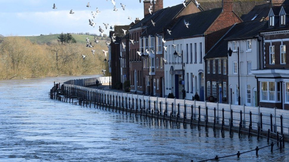 A view of the River Severn at Bewdley