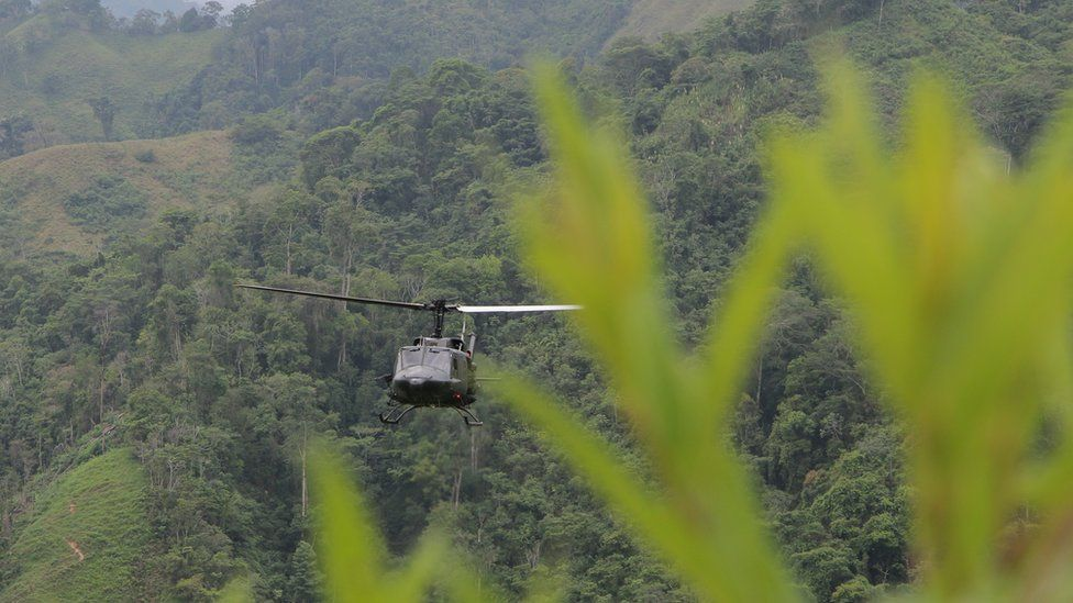 Colombian helicopter