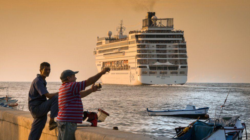 A cruise ship in Cuba